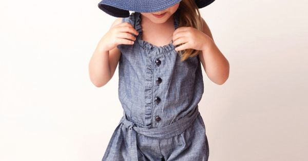 Love Rompers for my girls!!! And the sun hat (: