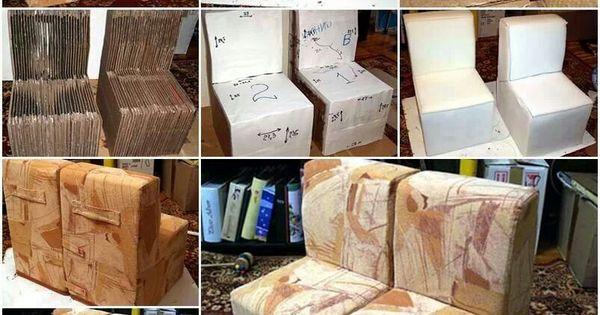Cardboard couches recyclado pinterest for Muebles regalados en madrid