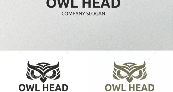 Owl Head Vector Eps Company Symbol Available Here Https Graphicriver Net Item Owl Head 12145083 Ref Pxcr Owl Head Owl Logo Pet Logo Design