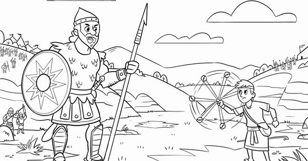 David And Goliath Coloring Pages Best Coloring Pages For Kids David And Goliath David And Goliath Craft Bible Coloring Pages