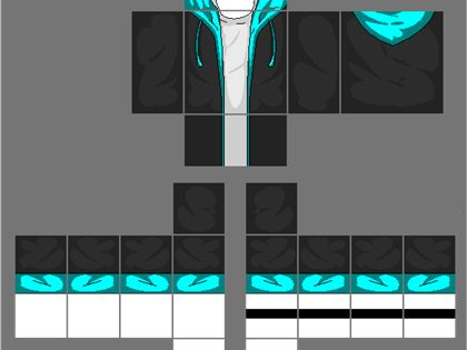 Black Jacket with Cyan Blue Hoodie, a Image by 2Otaku4Lyfe ...