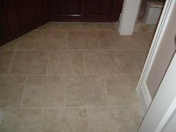 Laying 12x12 Tiles In Subway Pattern Tile Floor Flooring Modern Floor Tiles