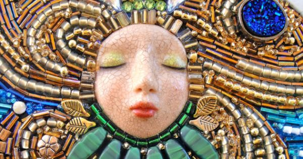Sea queen beaded mosaic wall hanging by mymosaicmoods on