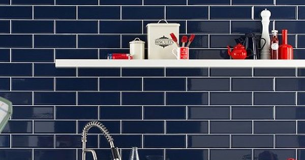 Dark Blue Tiles Google Search Kitchen Pinterest