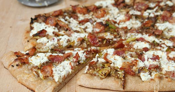 pizza with brussels sprouts, bacon, and goat cheese | Pizza Pizza ...