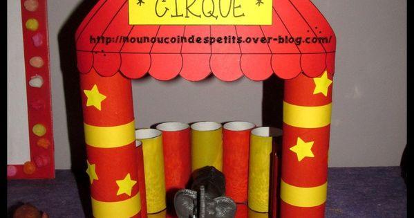 Ma cr ation du chapiteau du cirque du week end avec - Activite manuelle avec du papier toilette ...