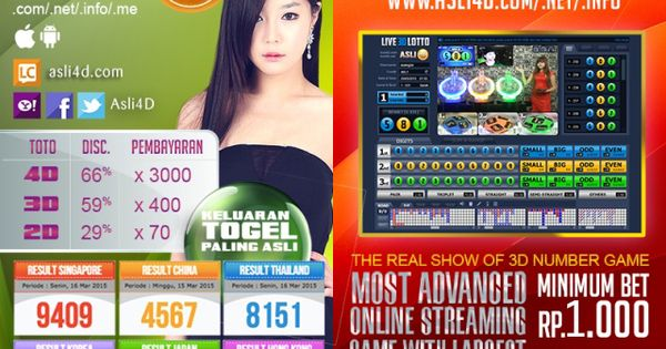 Togel Online Aslid Net Terpercaya Number Game D Indonesia Togel Online Aslid Net Terpercaya Number Game D Indonesia Pinterest