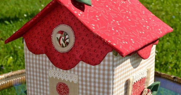 Eskulanetan casita costurero costureros pinterest for Casitas de madera para guardar cosas