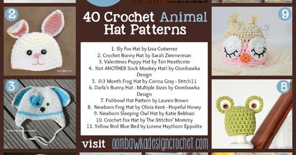 40 Crochet Animal Hat Patterns