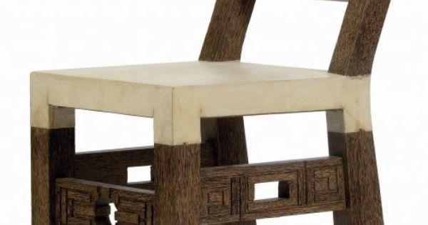 chaise africaine vers 1924 bois de palmier sculpt dossier avec d cor laqu assise en. Black Bedroom Furniture Sets. Home Design Ideas