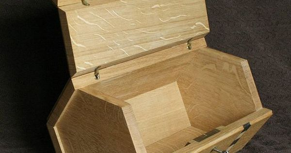 handmade Oak Box With Handmade Sycamore And Bog Inlay