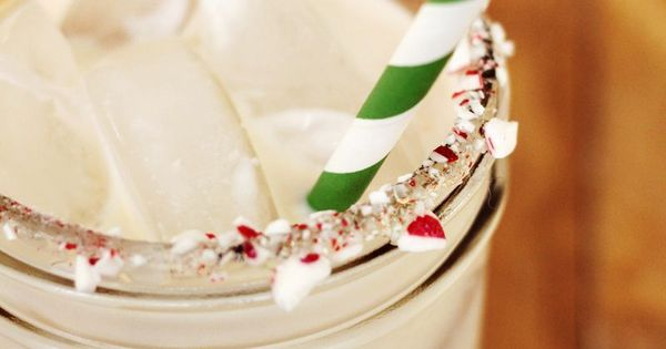 peppermint white russian recipe! yum. (ps - the candy cane bits around