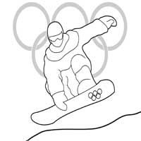 Snowboarding Run Coloring Pages Surfnetkids Winter Olympics Sports Coloring Pages Olympics Activities