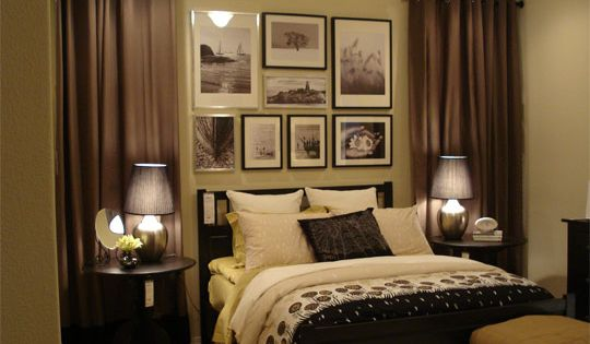Guest Bedroom Idea - The curtains add texture and interest to the