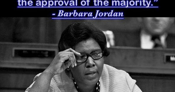 Barbara Jordan : Barbara Jordan quote stuff i wanna keep Pinterest Jordans ...