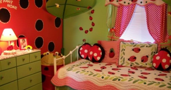 lady bug room, cute girls room!