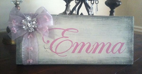 Hand painted wood sign for little girl 39 s room love the for Signs for little girl rooms