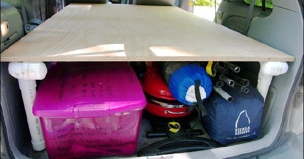 Bed Frame For Van Out Of Pvc Pvc Pipe Creations