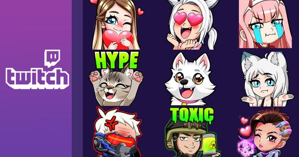 I Will Draw Kawaii Twitch Emotes And Badges Twitch Kawaii Kappa Twitch