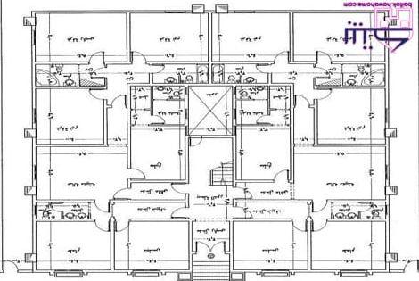 مخطط عماره شقتين ٥ غرف و صاله 20x30 House Plans House Plans House Design
