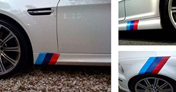 "1 Set 10/"" M-Colored Stripe Decal Sticker For BMW Exterior or Interior Decoration"
