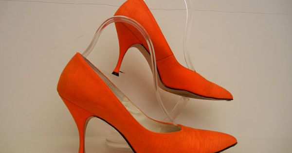 Orange You Glad Vintage 60's Pumps Kitten by Planetclairevintage ...