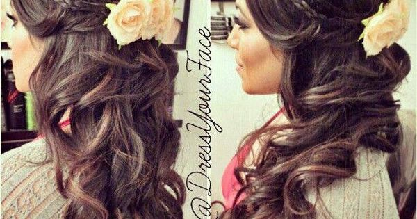 Stunning wedding hair. pmtslouisville paulmitchellschools paul mitchell louisville wedding bridal bride hair idea inspiration ideas braid braided braids curly curls wavy waves flower hairstyle girl hairstyle Hair Style| http://hairstyle266.blogspot.com