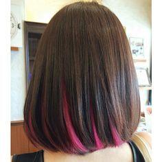 Pink Peekaboo Highlights Brown Hair Google Search Underlights Hair Hair Color Underneath Hair Styles
