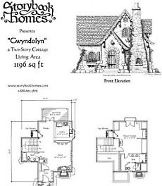 small cottage called Gwyndolyn from Storybook Homes in 2019 ... on narrow lakefront home plans, narrow duplex house plans, narrow cottage houses,