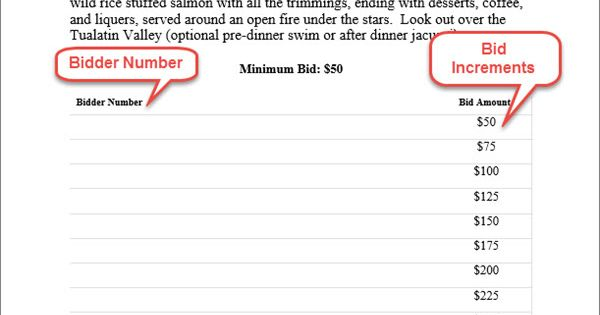 i like this bid sheet with the prices there only thing the bidder has to do is sign their name