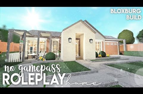 Roblox Bloxburg No Gamepass Roleplay Home Discord Server Youtube Roblox Cute House Modern Family House