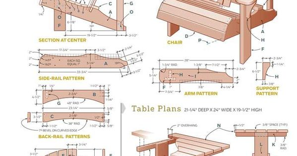 Free DIY Adirondack Chair Plans |Build Adirondak Chair ...