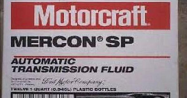 Motorcraft Mercon Sp Xt 6 Qsp Transmission Fluid Case 12 Quarts