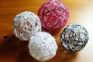 Boule De Noel Laine Ballon Tuto boule de laine   Mamzelle P | Décoration noel fait main