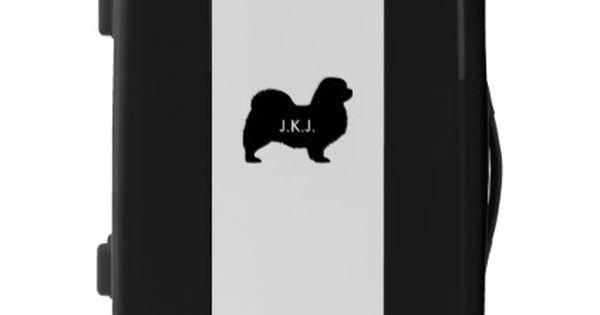 Tibetan Spaniel Silhouette With Custom Text Luggage Zazzle Com Tibetan Spaniel Tibetan Terrier Luggage