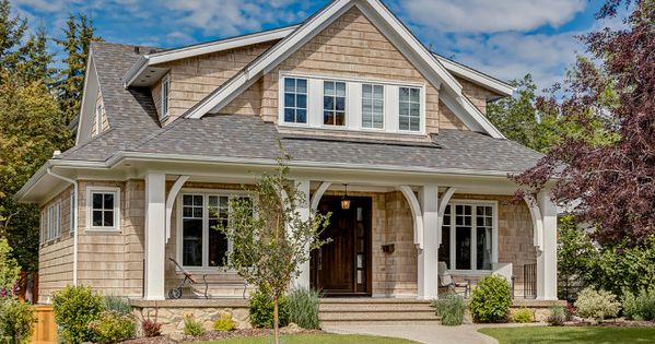 Porch Columns With Brackets Craftsman Style Shingle Home
