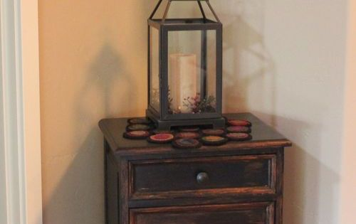 Prim cupboard lantern and shelf display projects for Furniture 63385