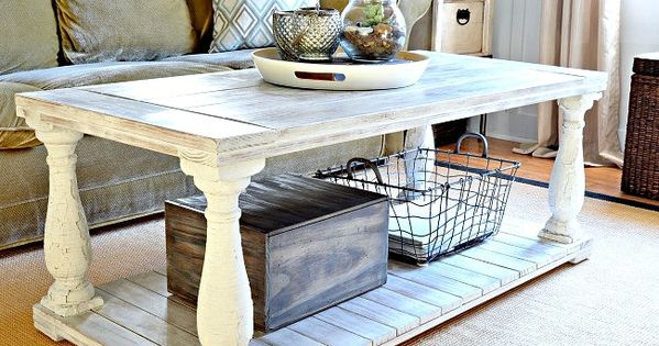 Restoration Hardware Knock Off Salvaged Wood Balustrade Coffee Table Wood Coffee Tables