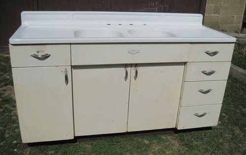 Vintage Metal Kitchen Sink Cabinet For Sale World Central Kitchen