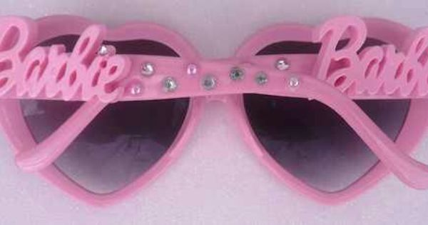 NEW BARBIE DOLL PINK HEART SHAPED SUNGLASSES DOLL ACCESSORY