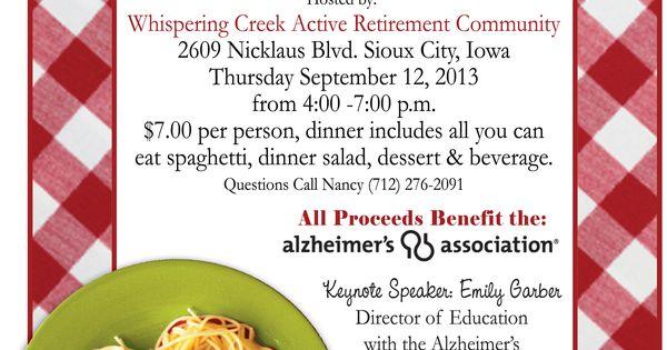 Spaghetti Fundraising Dinner Names Google Search