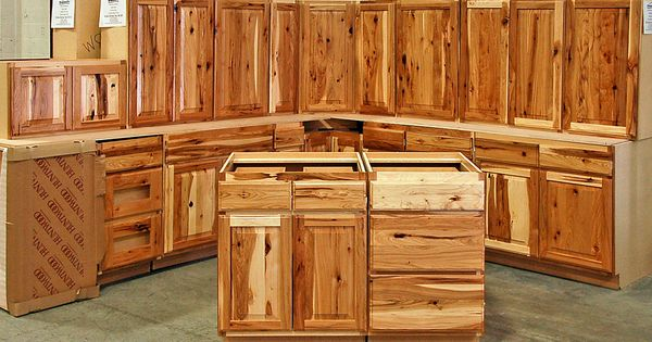 Assembled hickory kitchen cabinets do it yourself rustic for Do it yourself kitchen cabinets