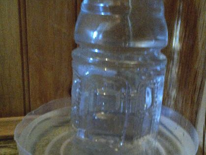 Diy plastic bottle water dispenser animal for Diy mineral water bottle