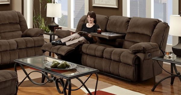 Home Decor Express Champion Chocolate Reclining Sofa
