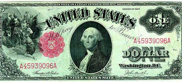 First Dollar Bill Ever Made George One Us Dollar
