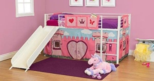 Bunk Bed Curtain Princess Loft Twin Play Kids Bedroom Girls Room