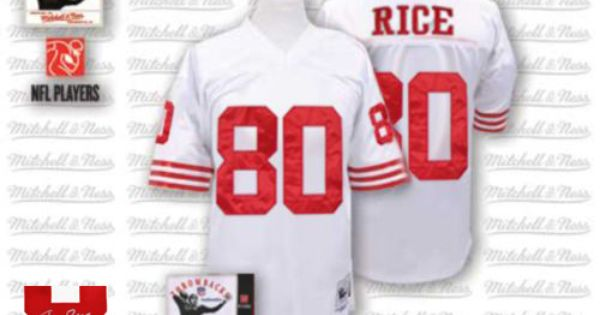 58cf04a8b6d ... 49ers Red (Authentic Mitchell and Ness Mens Jerry Rice Red Patch Jersey)  San Francisco Home NFL Pinterest • The worlds catalog of ideas ...