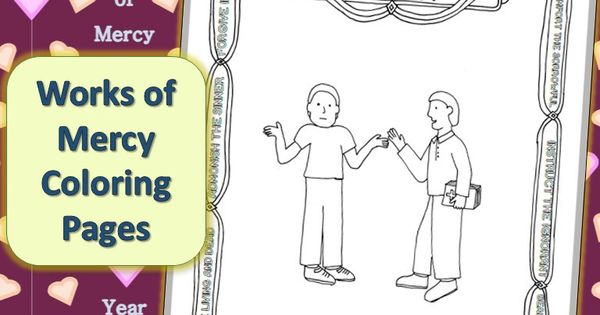 works of mercy coloring pages - photo#11