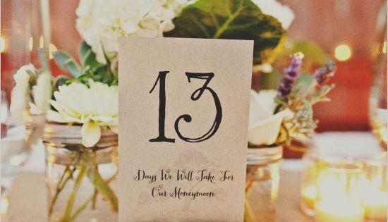 DIY Wedding Table Number Ideas | Decozilla