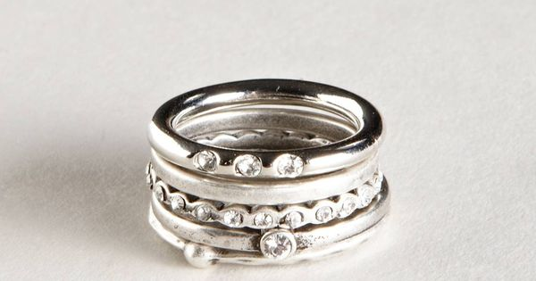 Stacked Rings Set Wedding Ring Redesign Pinterest Products